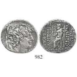 SYRIA under Rome. Type of Philip I, Philadelphus (93-83 BC) under Roman governor Aulus Gabinus. AR t