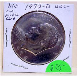 Uncirculated 1972-D IKE Dollar