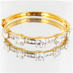 86.9twc Lab Diamond Gold Vermeil Bracelet (JEW-3541)