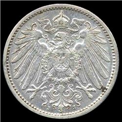 1911J Germany 1 Mark Hi Grade RARE Huge Error (COI-8048)