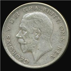 1929 Britain George V Half Crown AU+ (COI-7088)