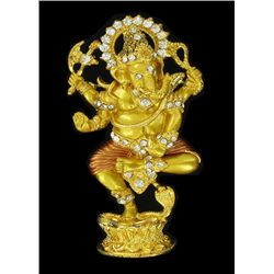 Tibet Gold Plated Ganesh Pin (ANT-1298)