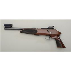 "Anschutz Exemplar Model bolt-action target  pistol, .22LR cal.,10"" barrel, blue finish,  stippled wo"