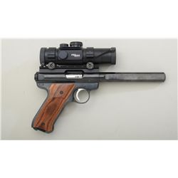 "Ruger Mark II Competition Target Model  semi-auto pistol, .22LR cal., 7"" barrel,  black finish, cust"