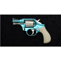 "High Standard Model R-101 DA revolver, .22  cal., 2-1/2"" barrel, turquoise and nickel  finish, faux"