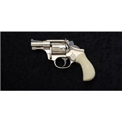 "High Standard Model R-101 DA revolver, .22  cal., 2-1/2"" barrel, nickel finish, bobbed  hammer, chec"
