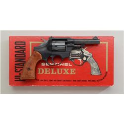 High Standard Sentinel Deluxe DA revolver  Model R-107 in factory red cardboard box  numbered to thi