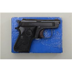"Beretta Model 950BS pistol, .25 cal., 2-1/2""  barrel, black finish, checkered black plastic  grips,"