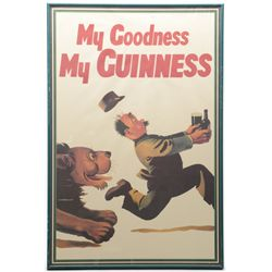 "Lot of three framed color Guinness Beer  poster advertisers approx. 30"" x 20""; all in  very good con"