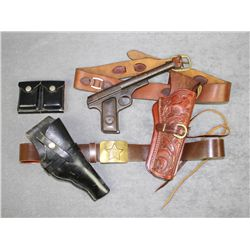 Misc. small lot of leather and an old metal  Daisy No. 118 Target Special bb gun; leather  includes