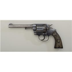 "Colt Police Positive Model DA revolver, 32-20  WCF cal., 5"" barrel, blue finish, checkered  black ha"
