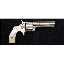 "Remington Smoot #3 spur trigger revolver, .38  cal., 3-3/4"" octagon barrel, nickel finish,  pearl gr"
