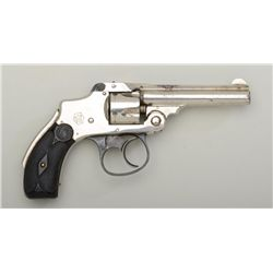 "Smith & Wesson New Departure DA concealed  hammer revolver, .32 S&W cal., 3-1/2"" barrel,  nickel fin"