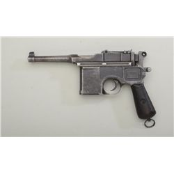 Bolo Model Mauser semi-auto pistol, 7.63mm  cal., 4 barrel, blue finish, wood grips,  lanyard ring,