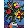 Britto, Romero: FLOWERS: Size: 20x24, Signed Edition: /300 Limited Serigraph on Paper