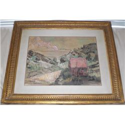 Emile Bernard Original Drawing Landscape Framed