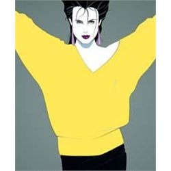Commem #8 by Patrick Nagel Serigraph Original 24x36
