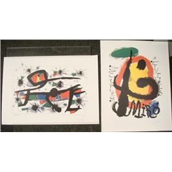 2 Joan Miro Art Prints La Difference Penitures