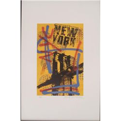 Bobby Hill New York City Signed Urban Pop Art Print