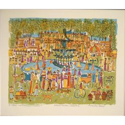 Susan Pear Meisel Signed Art Print Bethesda Fountain