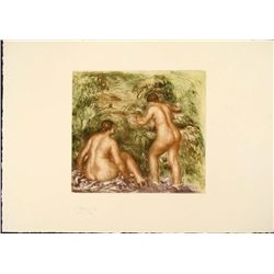 Renoir Colored Etching Art Print - Nues de Dos