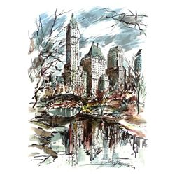 4 Different John Haymson Art Prints: New York Scenes