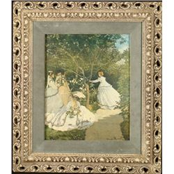 Claude Monet Women in the Garden Frmd Repro Art Print