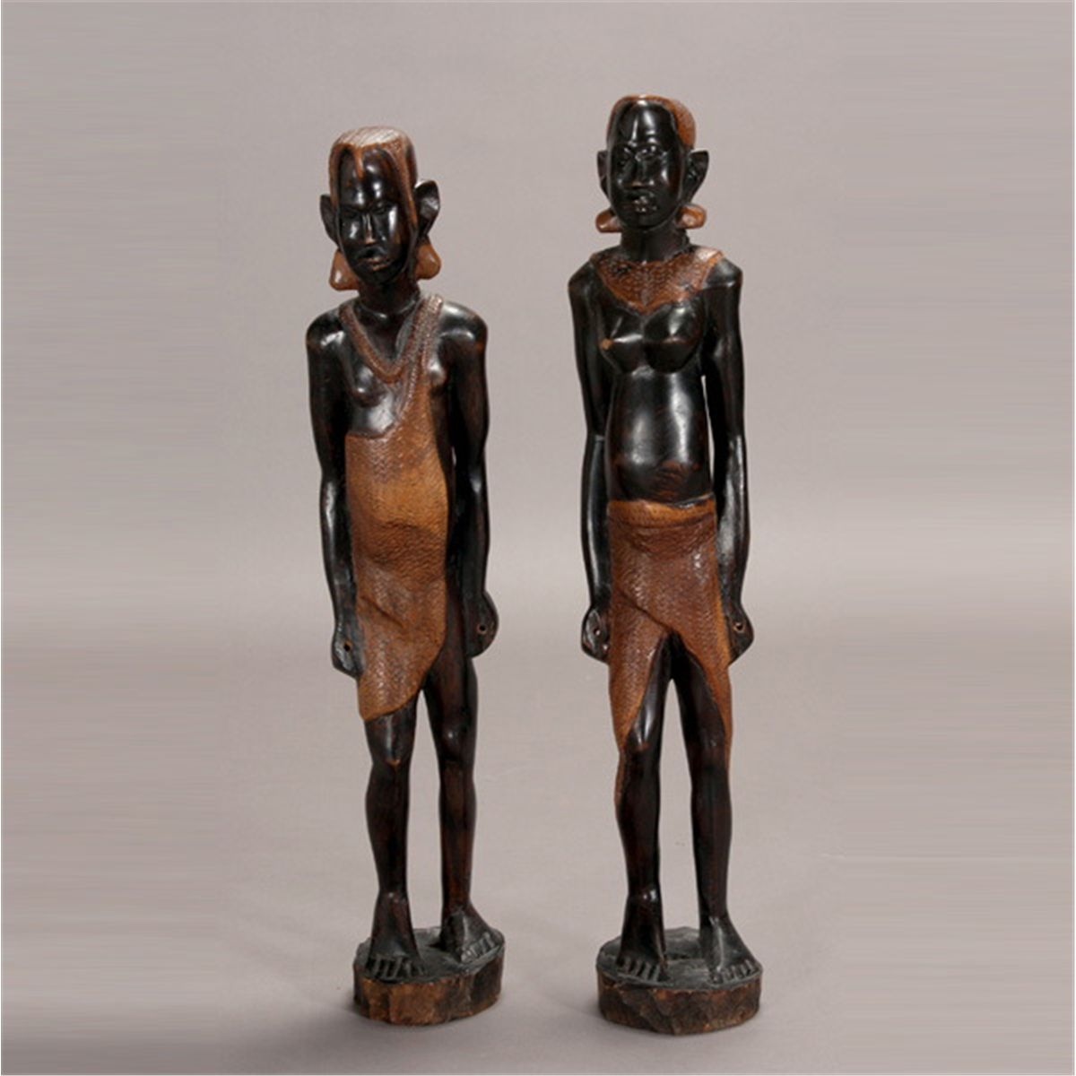 Two large east african wood carvings