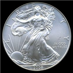 2008 Silver Eagle Graded GEM MS70 (COI-5874)
