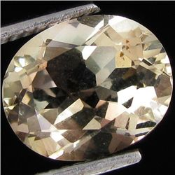 3.45ct Clear Champagne Oregon Sunstone Oval (GEM-30890)