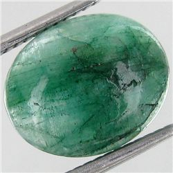 3.34ct S. American Emerald Cabochon Oval (GEM-39307)