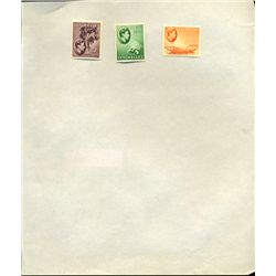 1940s Seychelles Hand Made Stamp Album Page 3pcs (STM-0237)