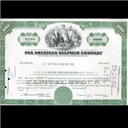 1960s Pan Am Stock Certificate Scarce (CUR-06409)