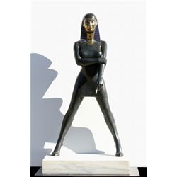 Tom Coffin, Memphis Girl, Bronze Sculpture