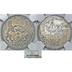 Free City of Danzig. Silver 1 Gulden 1923. NGC AU55, toned.