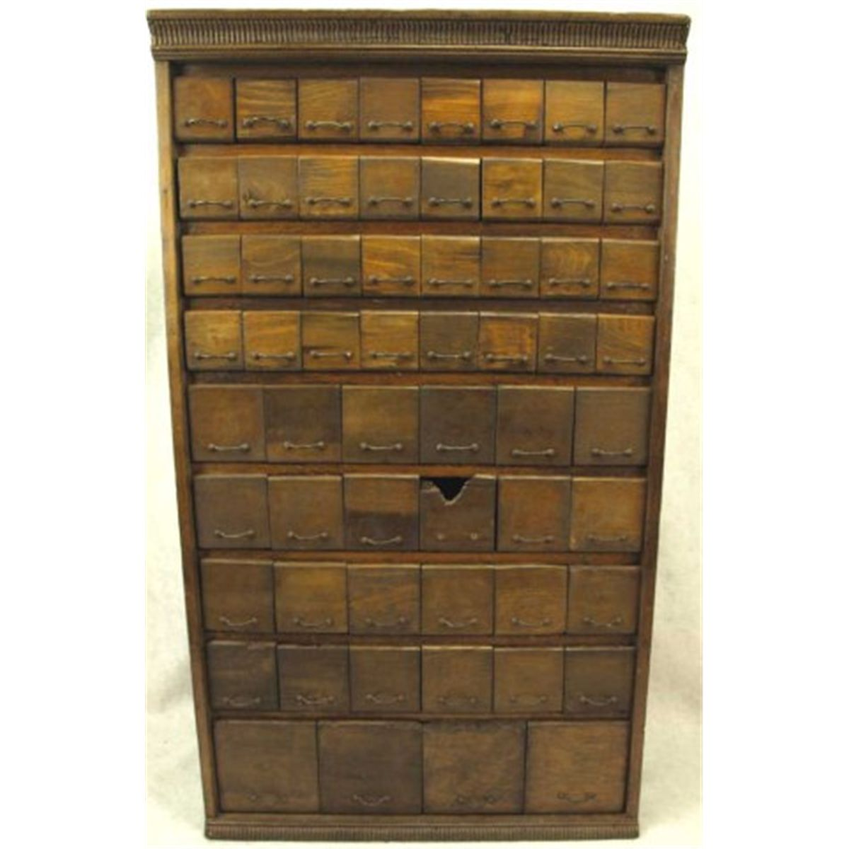 - Antique Hardware Store Bolt Bin Cabinet