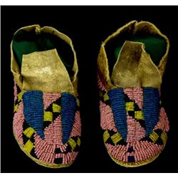 C. 1890's Sioux childs moccasins