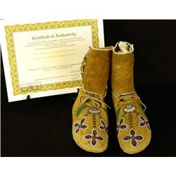 C. 1923 Blackfoot high top moccasins