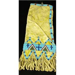 C. 1890 Sioux tab bag with yellow okra