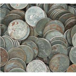 Lot of 100 Steel War Cents-