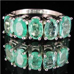 9.15twc Colombian Emerald 10k Gold Ring (JEW-2901)