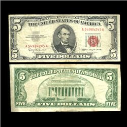 1963 $5 United States Note Hi Grade Scarce (COI-4726)