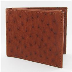 Mens Ostrich Hide Skin Wallet (ACT-245)