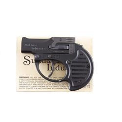 Sundance Ind. Derringer Cal .22 SN:D04353 Double barrel concealed carry top break pistol. Blued fini