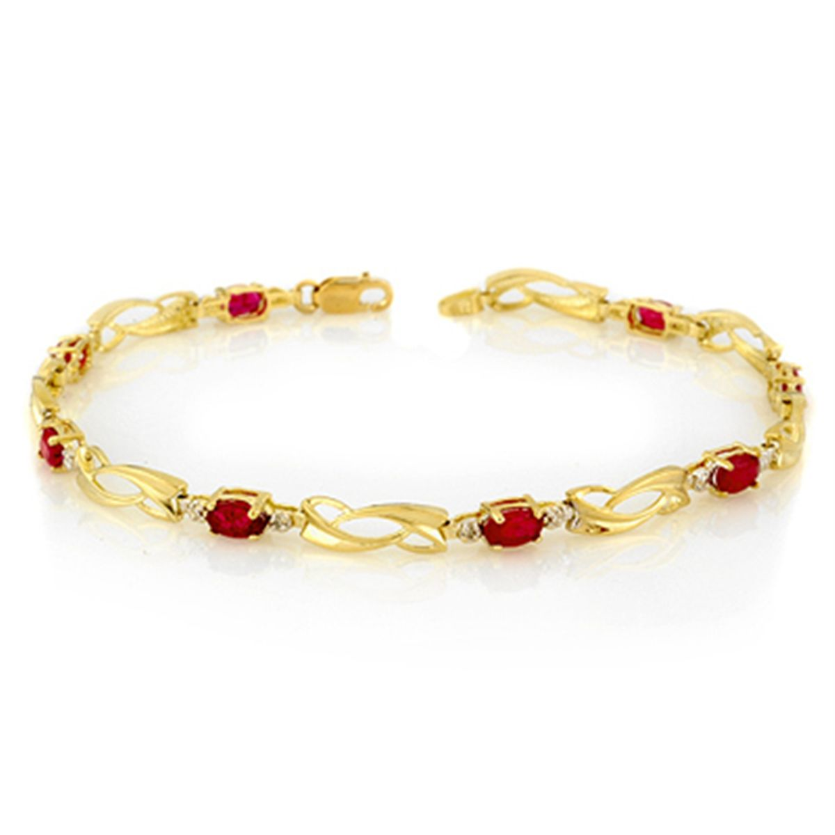 Bracelets gold with ruby recommend dress in summer in 2019