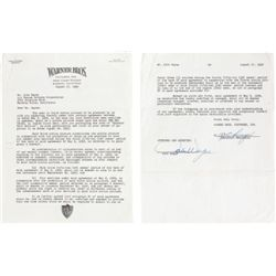 A Signed Document Regarding  The Sea Chase,  1954.... (Total: 1  )