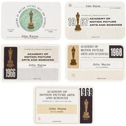 Five AMPAS Membership Cards, 1960s....