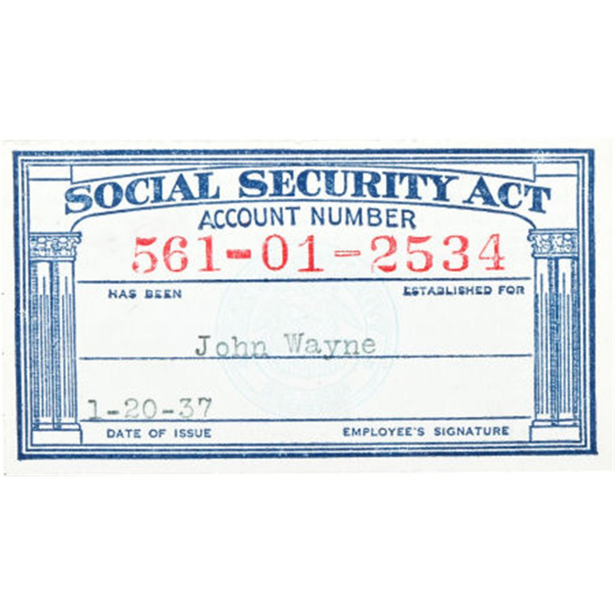 A social security card 1937 total 1 for Make a social security card template
