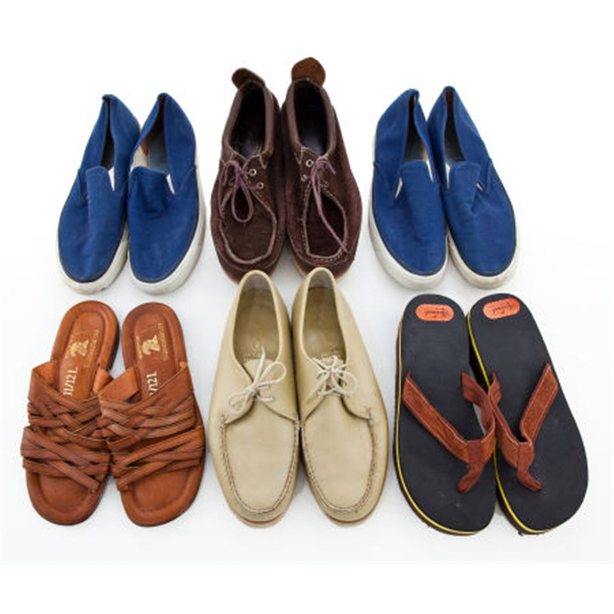 Six Pairs of Boat Shoes, 1960s-1970s.... (Total: 6 )