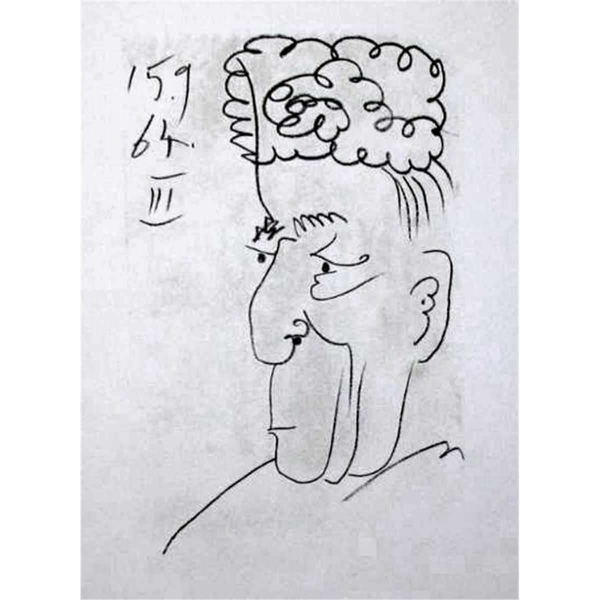 Line Art Limited : Line drawing style picasso ltd ed rare collectible